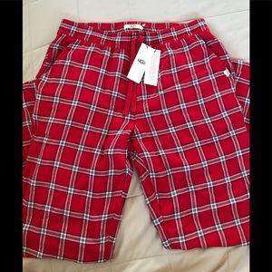 Ugg red flannel pjs pants sz L